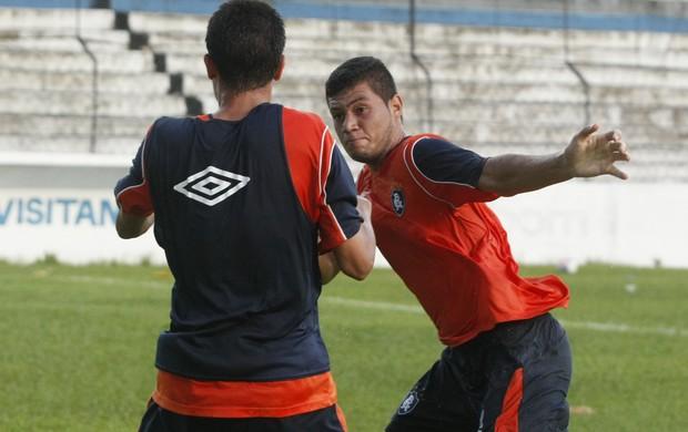 BRIGA GABRIEL E THIAGO GALHARDO (Foto: Marcelo Seabra / O Liberal)