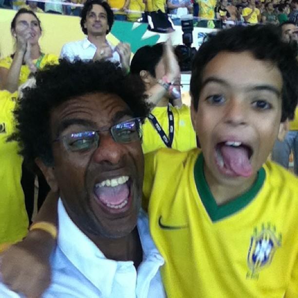 Hélio de la Pena no Maracanã (Foto: Reprodução/Instagram)