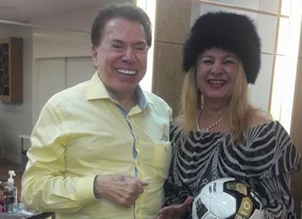 Silvio Santos e Lilian Gonçalves (Foto: Reprodução)
