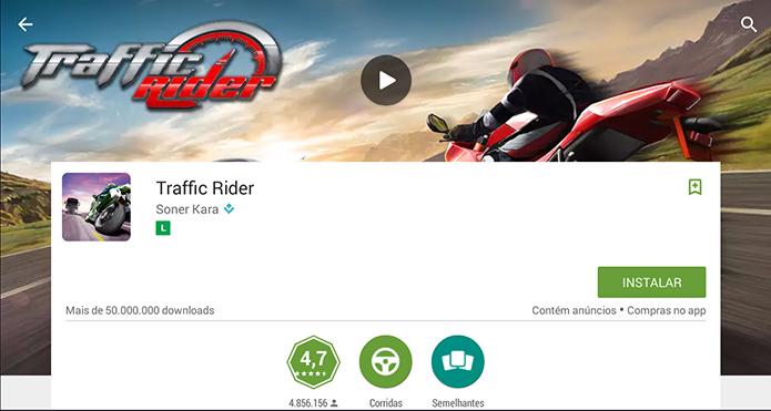 Instale Traffic Rider no seu PC (Foto: Reprodução/Murilo Molina)
