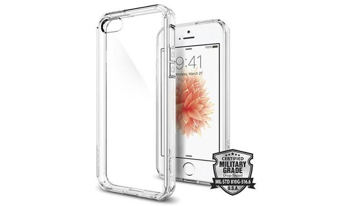 Capa com design discreto e transparente para proteger o iPhone SE (Foto: Divulgação/Spigen)