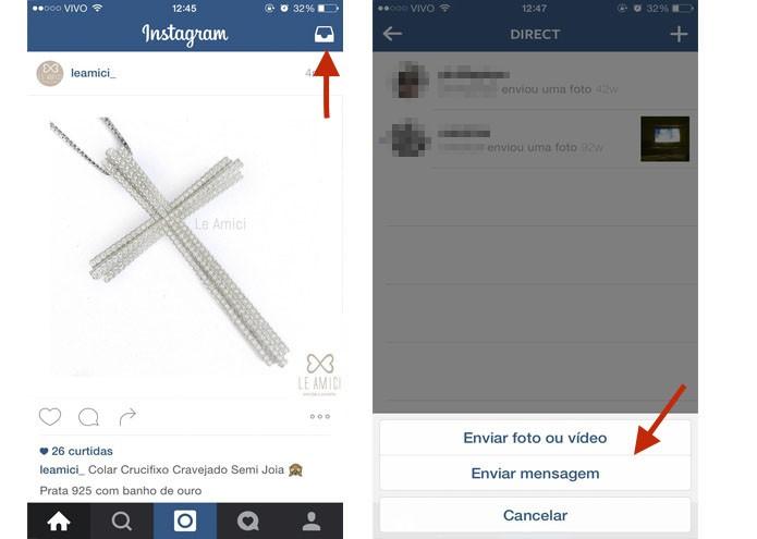 O Instagram Direct funciona como o Inbox do Facebook (Foto: Gabriella Fiszman/ TechTudo)
