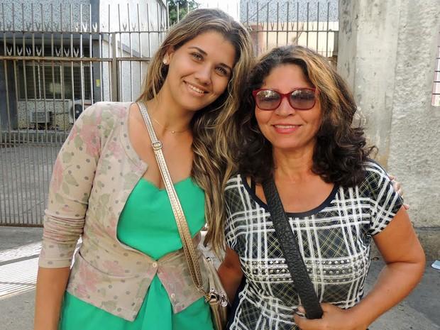 Iza Torres e Ivete Fernandes fizeram a prova na mesma sala e concordam que o tema foi inesperado (Foto: Anna Tiago/G1)