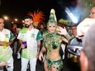 Viviane Araújo festeja retorno da Mancha Verde ao Grupo Especial SP