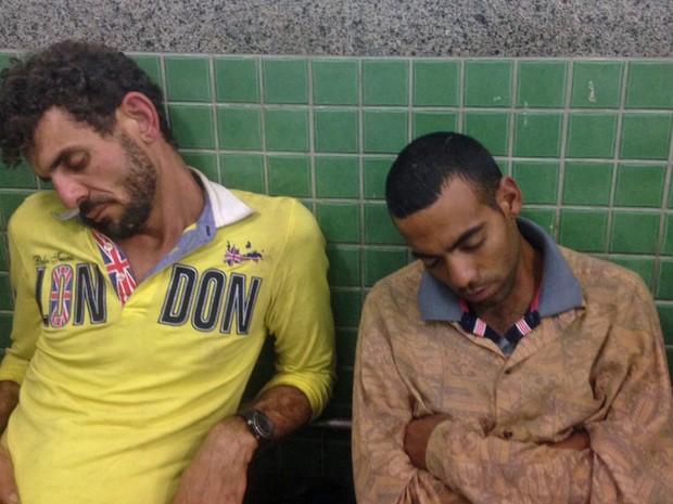 Dupla foi presa suspeita de roubar 40 kg de carne em Sobradinho, Distrito  Federal (Foto: Polícia Militar/Divulgação)