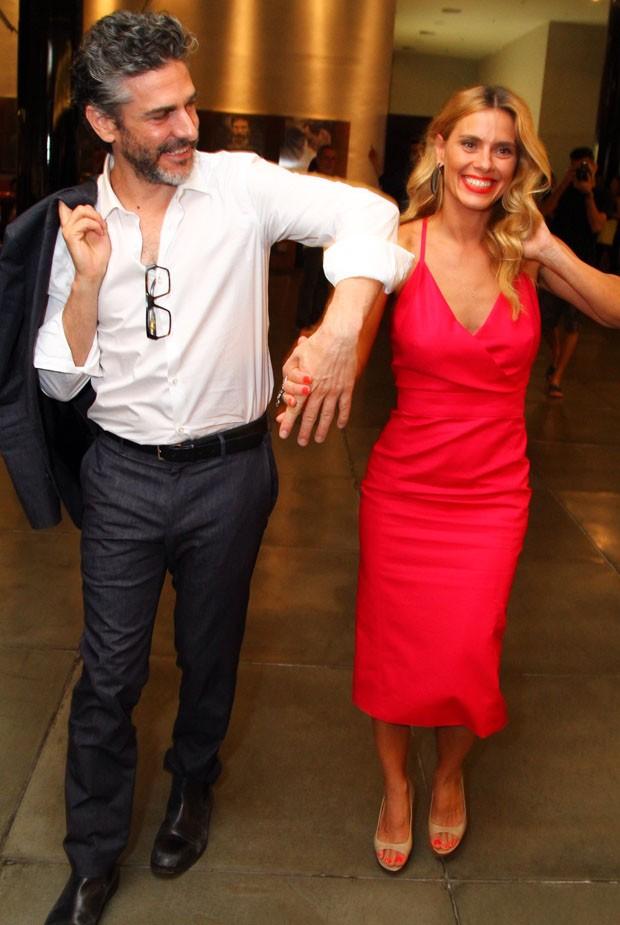 Carolina Dieckmann e Leonardo Sbaraglia (Foto: Anderson Borde/Ag News)
