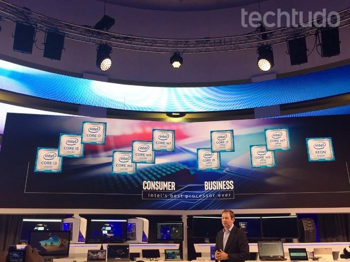 Intel apresenta sua nova família de processadores  (Foto: Laura Marins / TechTudo)