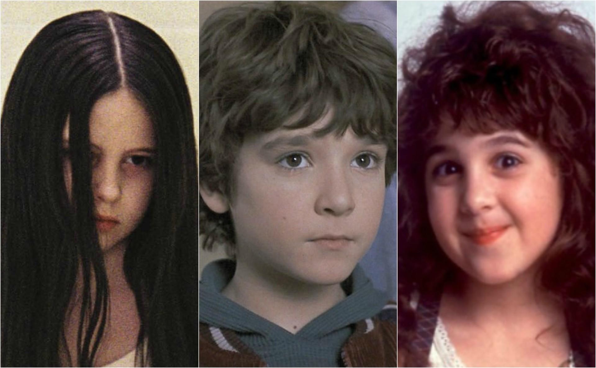 Crianças famosas de 'O Chamado', 'Jumanji' e 'A Malandrinha'. (Foto: Reprodução)