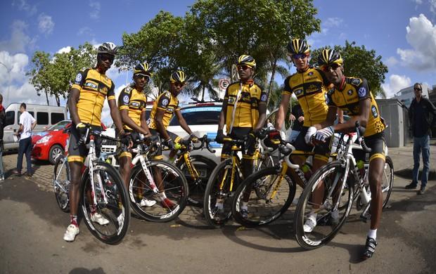 Equipe África do Sul Tour do Riode ciclismo (Foto: Hudson Malta)