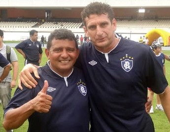 Edil e Ageu, ídolos do Clube do Remo (Foto: Gustavo Pêna)