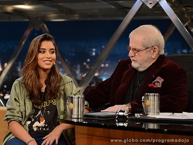 Marina Serra dos Santos participa do Programa do Jô desta quarta-feira (Foto: TV Globo/Programa do Jô)