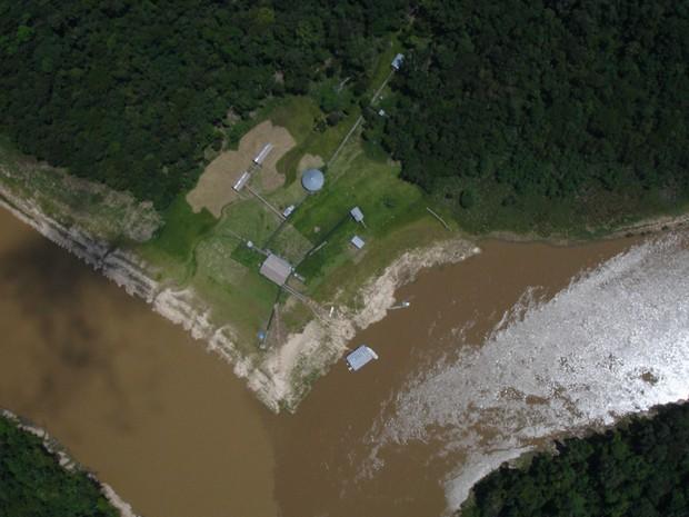 Imagem recente da Base Ituí-Itaquaí, onde os korubos estão atualmente (Foto: Divulgação/Funai)