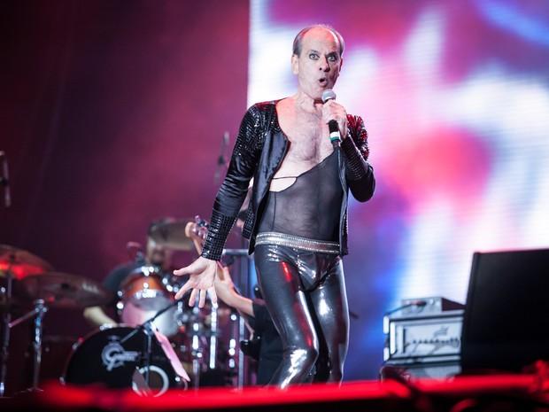 Ney Matogrosso no Palco Mundo com show em homenagem aos 30 anos do Rock in Rio (Foto: Fabio Tito/G1)