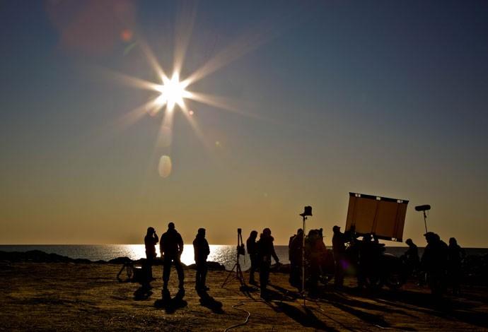 A equipe acordou todos os dias antes de o sol nascer e, às 8 da manhã, já estava no set para gravar (Foto: Gabriel Nascimento/Gshow)