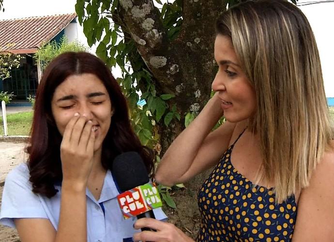 Ana Beatriz vai cair na pegadinha do Plugue  (Foto: Reprodução/ Plugue )