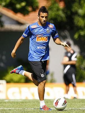 Felipe Anderson em treino do Santos (Foto: Ricardo Saibun / Divulgação Santos FC)