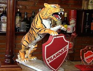 Tigre de José Antônio, torcedor do Vila Nova (Foto: Reprodução/TV Anhanguera)
