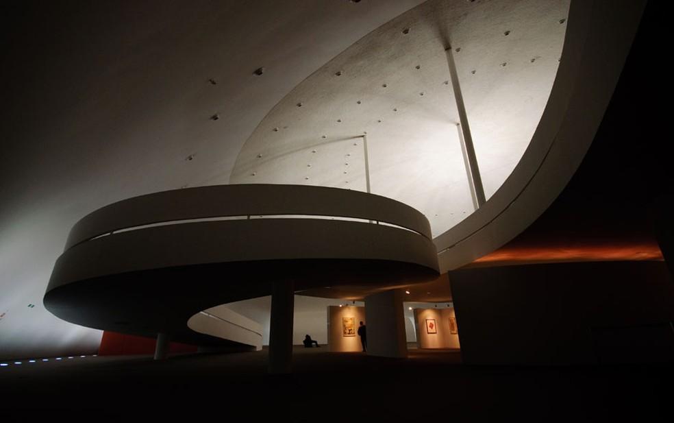 Interior do Museu da República, parte do Conjunto Cultural da República, em Brasília  (Foto: Marcelo Brandt/G1)