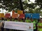 Em Sergipe, servidores federais protestam contra a política econômica