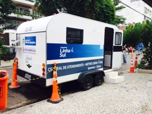 Posto de atendimento aos moradores funciona 24h de segunda a sábado e das 8h às 18h no domingo (Foto: Janaína Carvalho / G1)