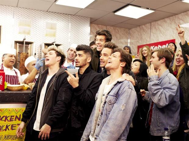 Cena do clipe de 'Midnight memories', do One Direction (Foto: Divulgação)
