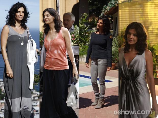 Verônica usa peças cheias de charme em seus looks (Foto: Em Familia/TVGlobo)
