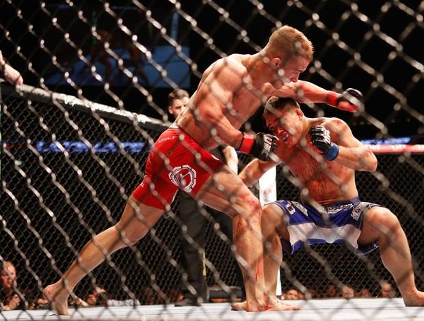 Drew Dober e Nick Hein UFC MMA (Foto: AFP)