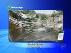 Motorista registra destruição de vidro de veículo em chuva de granizo; vídeo