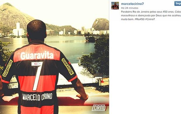 Marcelo Cirino homenagem ao Rio no Instagram