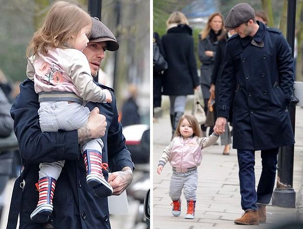 David Beckham e sua filha Harper  (Foto: Reprodução)