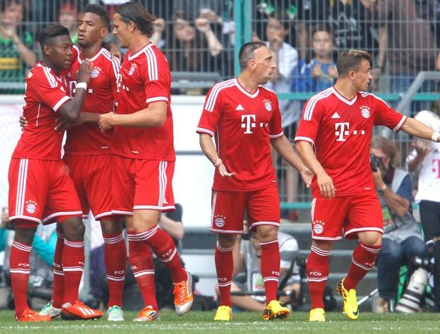 Comemoração Bayern de munique contra o Hamburg (Foto: Agência Reuters)