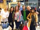 Grávida, Luana Piovani embarca para o Rock in Rio em Las Vegas