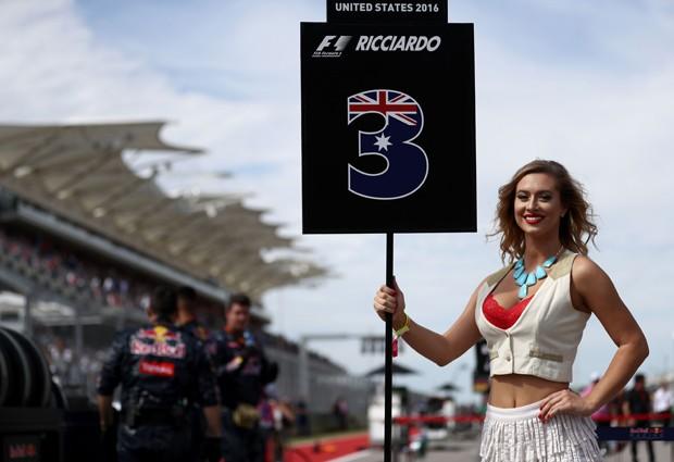 Grid Girl no circuito de Fórmula 1 em Austin, Texas (Foto: Getty Images)
