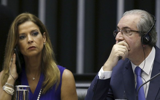Claudia Cordeiro e o ex-deputado Eduardo Cunha (Foto:  Ueslei Marcelino / Reuters)