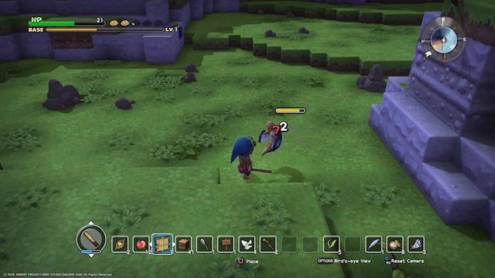 Dragon Quest Builders: combate é simples, porém eficiente (Foto: Reprodução/Victor Teixeira)