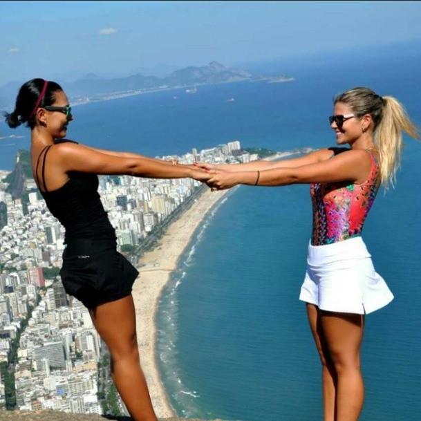 Fernanda Britto e Mariana Reis Dupla Carioca Instagram Eu Atleta (Foto: Arquivo Pessoal)