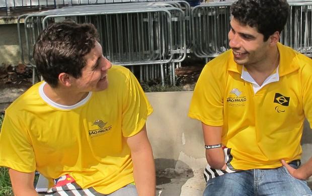 Andrey Garbe e Daniel Dias natação (Foto: Thiago Braga)