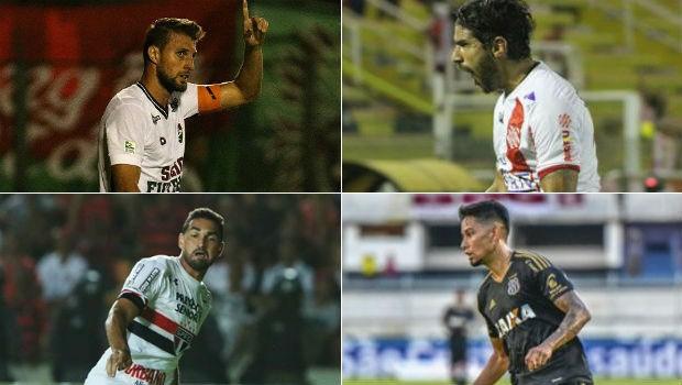 montagem futebol (Foto: Nelson Peres/Divulgação FFC/João Carlos Gomes/Bangu/Rubens Chiri / saopaulofc.net/Fábio Leoni)