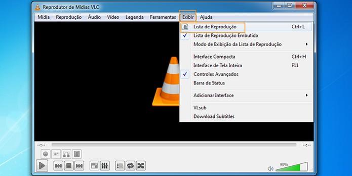 Acesse o menu do VLC Player (Foto: Reprodução/Barbara Mannara)