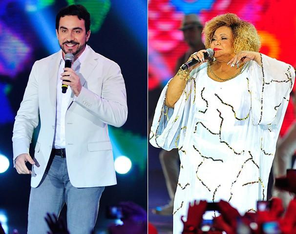 O Show da Virada agrada a todos: tem show do Padre Fábio e da Alcione (Foto: Reinaldo Marques/Globo)