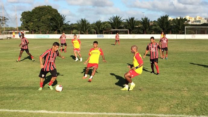América-RN x Santa Cruz de Natal - jogo-treino (Foto: Jocaff Souza/GloboEsporte.com)