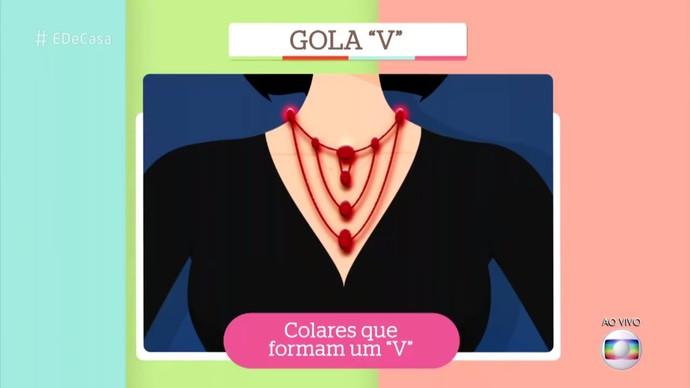 Colares indicados para gola V (Foto: Reprodução)