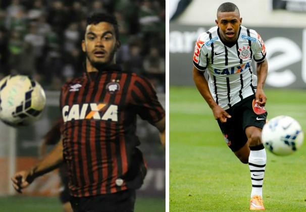 Atlético-PR x Corinthians (Foto: Montagem/G1 Grande Minas)