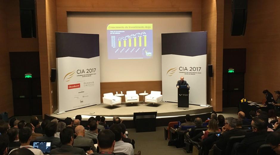 Cassio Spina, fundador e presidente da Anjos do Brasil, durante o Congresso de Investimento Anjo 2017 (Foto: Caio Patriani)