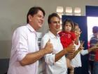 Candidato Camilo Santana vota em escola, em Barbalha