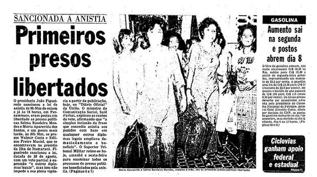 Lei da anistia (Foto: Arquivo O Globo)