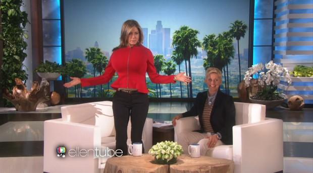 Jennifer Aniston e Ellen DeGeneres (Foto: Video/Reprodução)