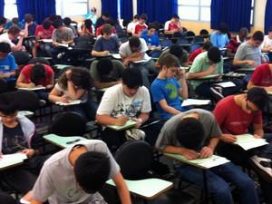 Estudantes fazem prova da OBM (Foto: Divulgação/OBM)
