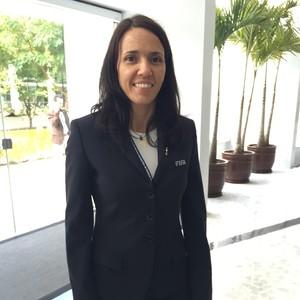 gerente sênior da FIFA para desenvolvimento do futebol feminino, Mayi Cruz Blanco. (Foto: Cíntia Barlem)