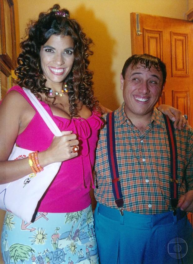 Luciana Coutinho com Pedro Bismarck no Zorra Total (Foto: CEDOC Globo)